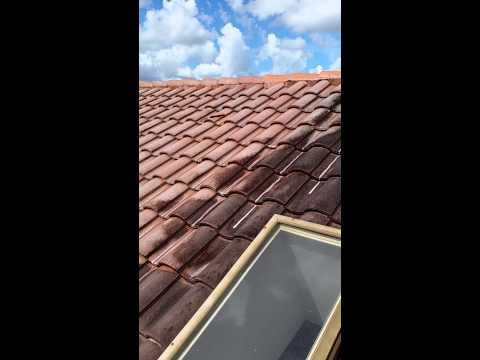 Non-Pressure Chemical Tile Roof Cleaning Palm Beach, Boca, Wellington, Fl