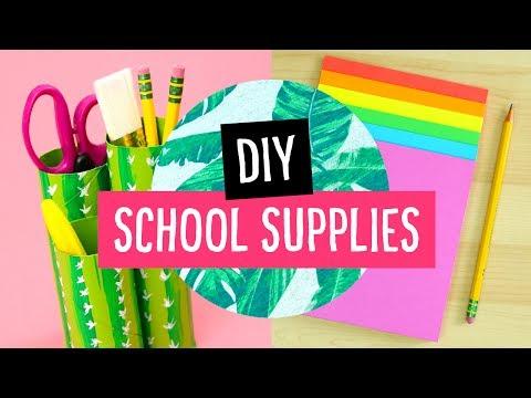5 DIY Back to School Supplies & Desk Accessories! ✏️ Sea Lemon