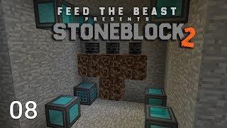 FTB Stoneblock 2 Wireless Crafting Terminal + Draconic