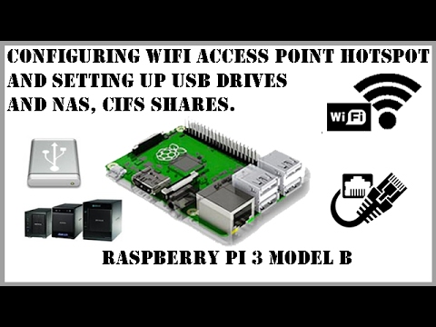 How to setup Raspberry Pi as access point, hotspot and configure usb and shared storage easily.