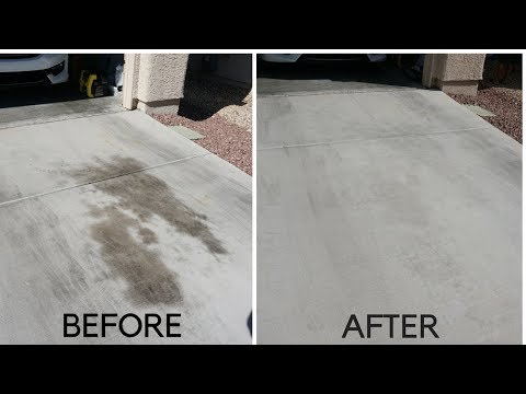 DIY: HOW TO GET CAR OIL OFF OF YOUR DRIVEWAY