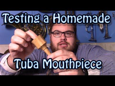Testing a Homemade Wooden Tuba Mouthpiece