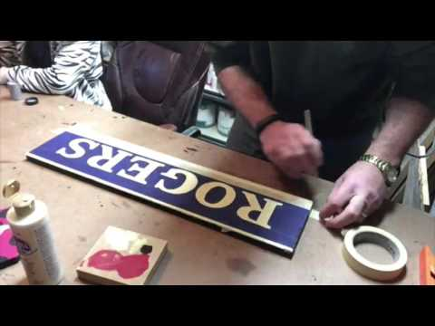 How To Make A Distressed Name Sign