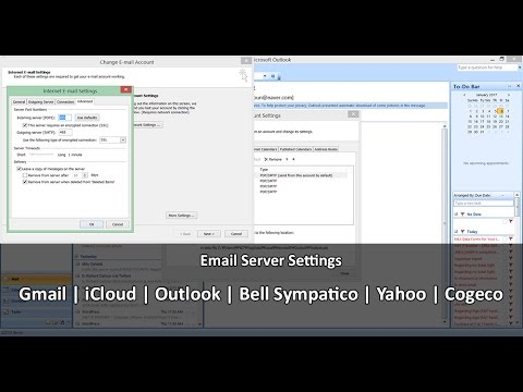 EMAIL SERVER SETTINGS: GMAIL, BELL SYMPATICO, ICLOUD, OUTLOOK (HOTMAIL), YAHOO, ROGERS, COGECO