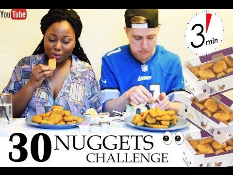 CHICKEN NUGGET CHALLENGE - 30 NUGGETS IN 3 MINUTES