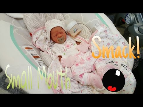 Bottle Attacks Baby!  Full Body Silicone Baby! Small Mouth She Has! Realistic Baby!