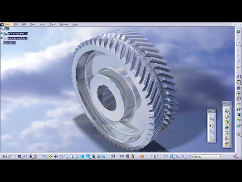 Gear - Part Design / Assembly Design / Generative Shape Design - CATIA V5