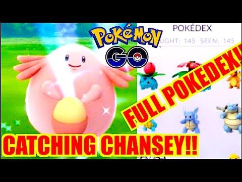 HOW TO GET CHANSEY EASY POKEMON GO!!! FULL POKEDEX!!