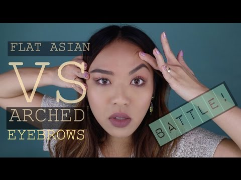 Flat Asian Eyebrows VS The Arched Eyebrows BATTLE !!! | Love P Beauty