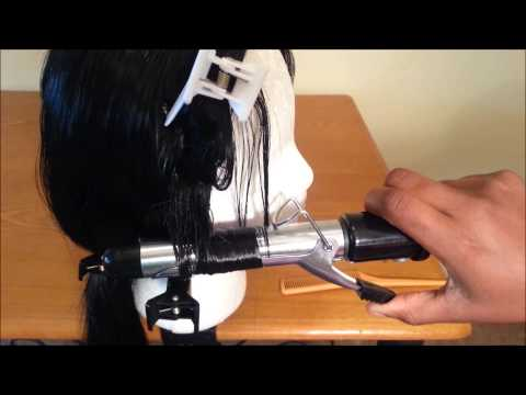 How to curl synthetic hair with a curling iron