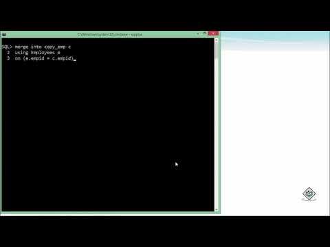 Oracle - SQL - Merge Statement