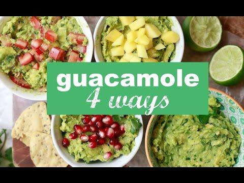 How to Make Guacamole 4 Ways - Simple Guacamole Recipe