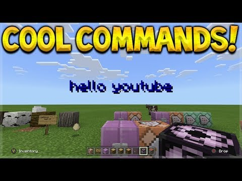 Minecraft Xbox BETA - SECRET, COOL & AWESOME Commands In Game