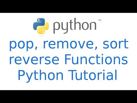 Python List functions pop, remove, reverse, sort   Python Hindi Tutorial