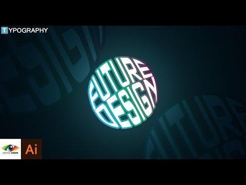 Adobe Illustrator | How to Make Circle Typography (Future Design text) Illustrator Tutorial
