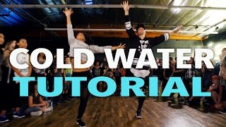 """COLD WATER"" - Major Lazer x Justin Bieber Dance TUTORIAL   @MattSteffanina Choreography"