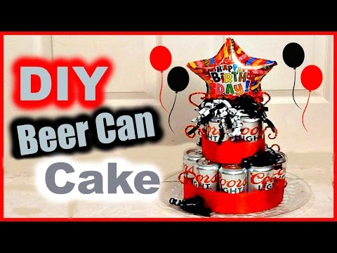 DIY Beer Can Cake │ Gift Idea for BF, Husband, Dad, Grandpa, Brother, anyone!