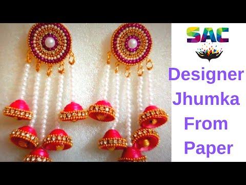How to Make Bridal Jhumka | DIY | Party Ware Jhumka | Paper Jhumka | Earrings |