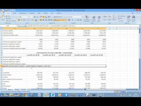 Calcuate Annual Growth Rate Using POWER function