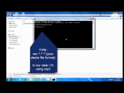 How to change file format through cmd