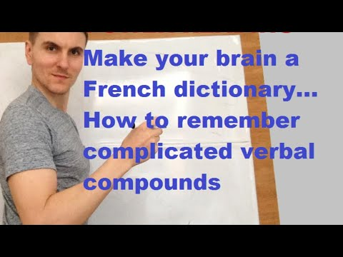 FRENCH - Power Reading - how to remember  French verbal compounds you read