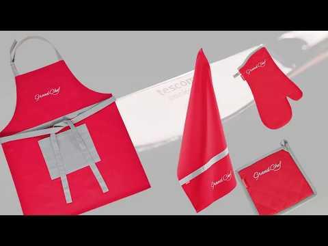 Oven mitt, heatproof mat, kitchen cloth and apron GrandCHEF