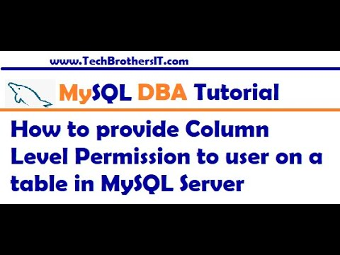 How to provide Column Level Permission to user on a table in MySQL Server - MySQL DBA Tutorial