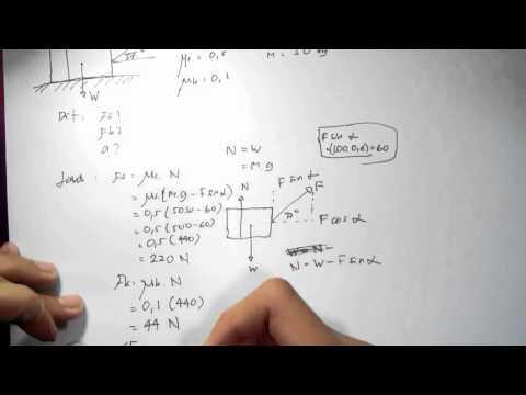 Fisika - Penerapan gaya gesek bidang datar