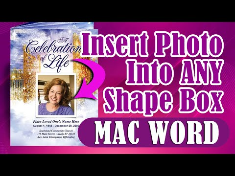 How To Insert A Photo Into A Shape Box in Microsoft Word 2003