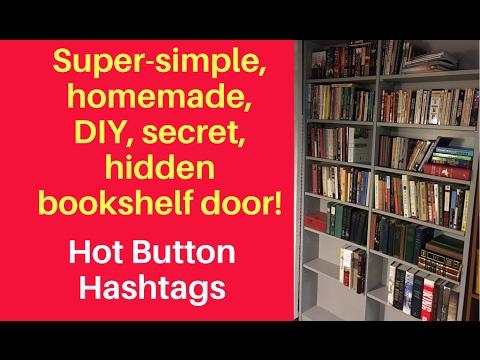 DIY secret bookcase door!