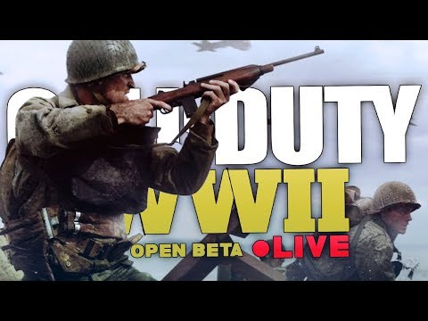 LET'S DO THIS! WWII BETA! SPONSOR BUTTON HYPE! 🔴Call of Duty: WWII Multiplayer PC Beta w/ Hydros