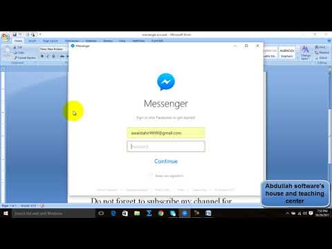 How to make messenger account on pc/laptop