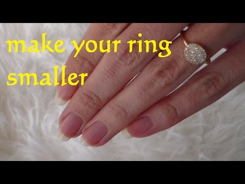 DIY Resize Ring smaller - How To Make a Ring Smaller - Lifehack resize a Wedding Ring