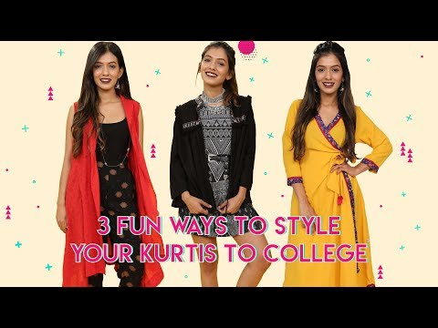 3 Cool Ways To Wear Your Kurti To College!