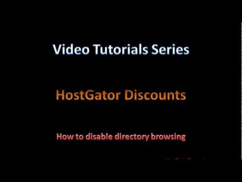 HostGator How to Disable Directory Browsing - HostGator Tutorial