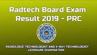 Radtech Board Exam result 2019   Music Jinni