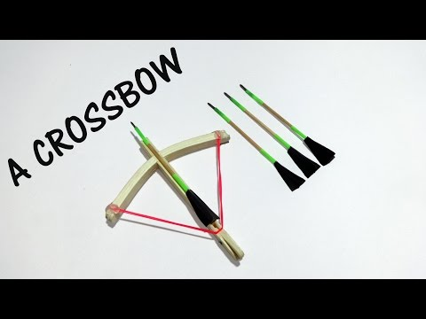 How to make a CROSSBOW from Popsicle sticks - easy