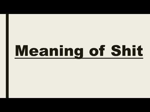 Meaning of shit