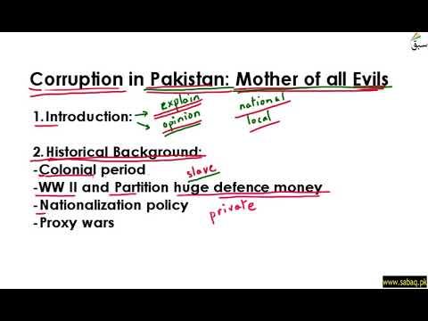 Essay Outline (Corruption) Part 1