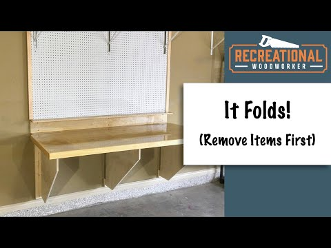 DIY Folding Workbench - With Easy to Follow Plans to build a sturdy space saving workbench
