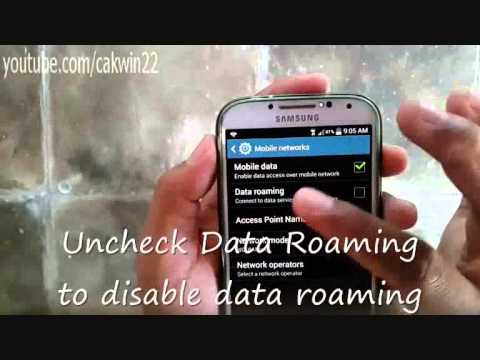 How to enable or disable Data Roaming on Samsung Galaxy S4
