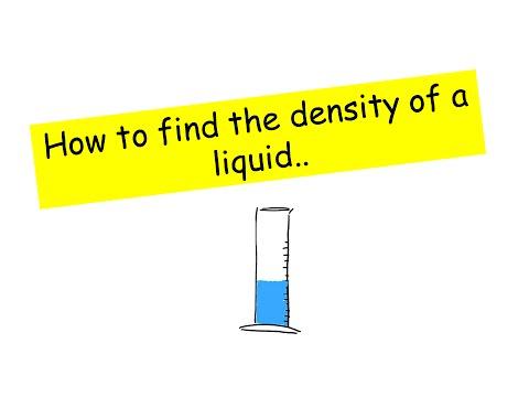 Finding the density of a liquid - IGCSE Physics