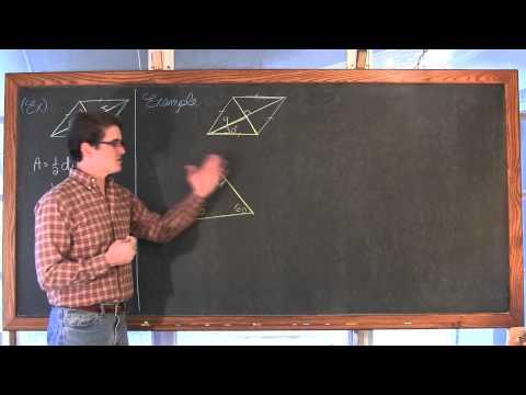 Area Trapezoid Rhombus Kite