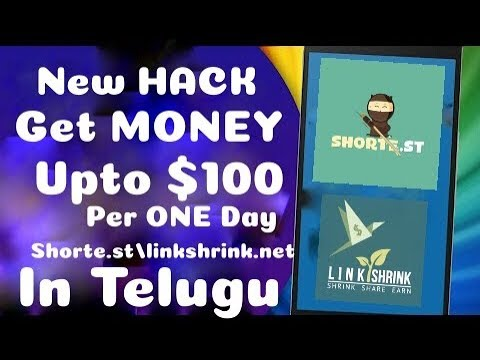 New way To Earn Money from (Shorte.st & LinkShrink.net) New Trick ...... works for free in Telugu.