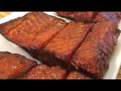 Asian Smoked Salmon Recipe-How To Smoke Food Gas/Charcoal Grill-Marinade/Brine