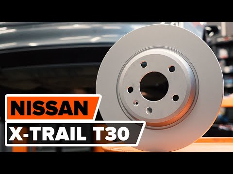 How to replace front brake discs and brake pads NISSAN X-TRAIL T30  TUTORIAL | AUTODOC