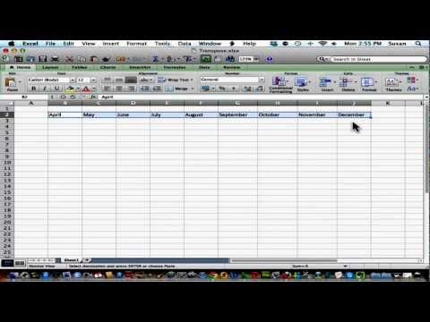 Technology Coaching: How to transpose columns/rows in Excel 2011 for Mac