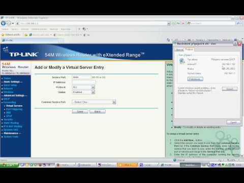 Router TP-LINK port forwarding utorrent