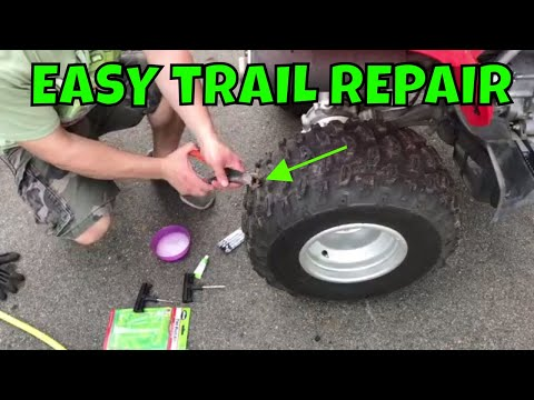 How To Fix a Flat ATV Tire With a Tire Plug