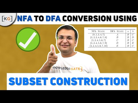 NFA to DFA Conversion In HINDI |Convert NFA to DFA Subset Construction conversion nfa to dfa part 38